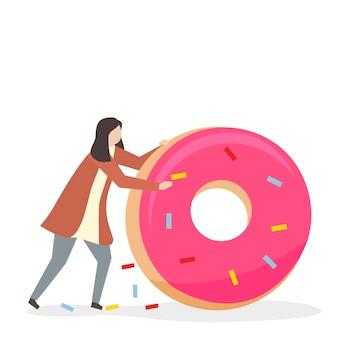 Süchtig nach süßigkeiten und zucker