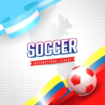 Südamerikanische fußballturnierspiel-banner-vorlage