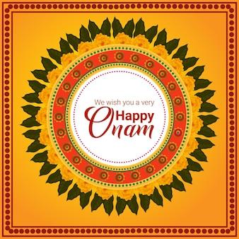 Südindisches festival glückliche onam feier grußkarte