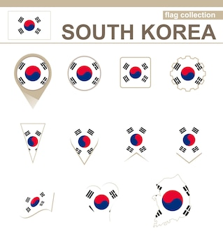 Südkorea-flaggensammlung, 12 versionen