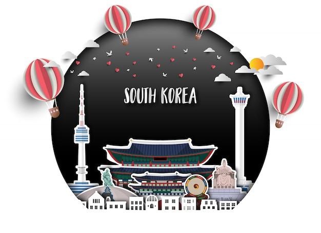 Südkorea-hintergrund
