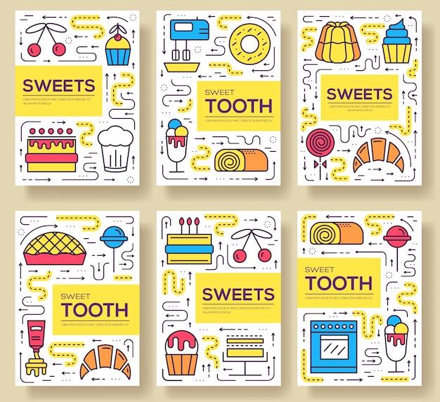 Süß für party vorlage des flyers