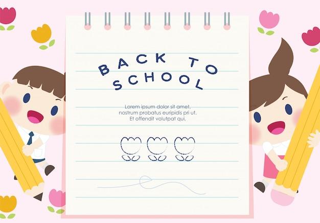 Süß glücklich grundschüler zurück in die schule