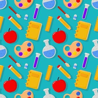 Süß lustig zurück zu schule nahtlose muster