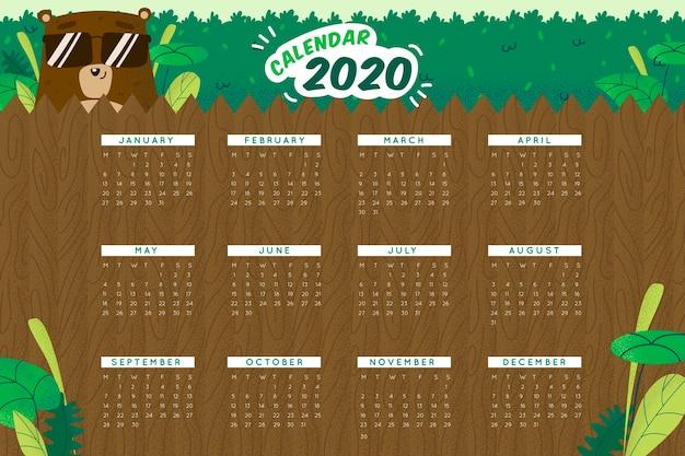 Süße 2020 kalendervorlage