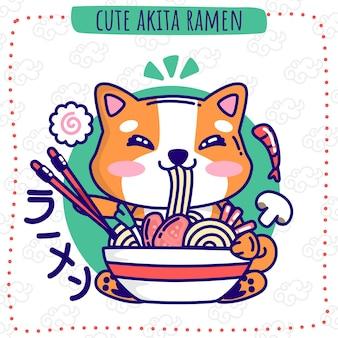 Süße akita-ramen