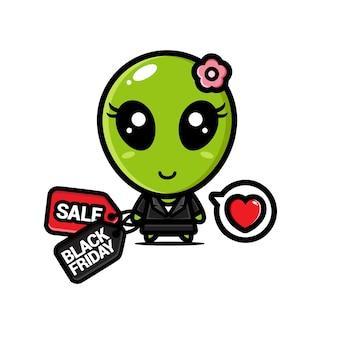 Süße aliens mit schwarzen freitag rabatt-gutscheinen