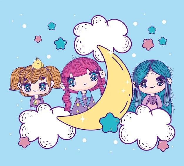 Süße anime-mädchen kawaii