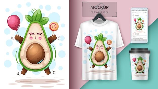 Süße avocado und merchandising