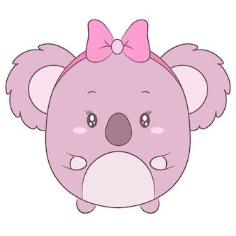 Süße baby-koala-zeichnung