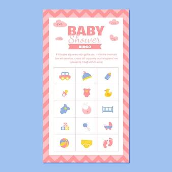 Süße babyparty-bingo-board-instagram-geschichte