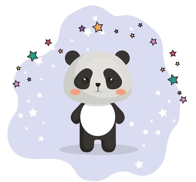 Süße bär panda kawaii geburtstagskarte