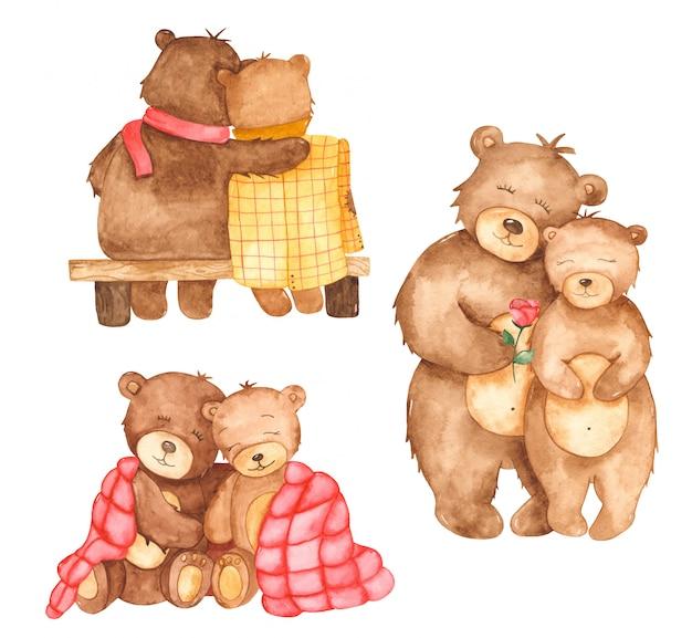 Süße bären in der liebe