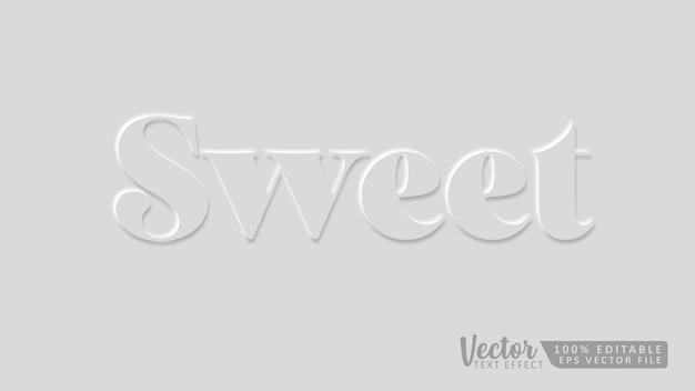 Süße bearbeitbare 3d-texteffekt-mockup-vorlage