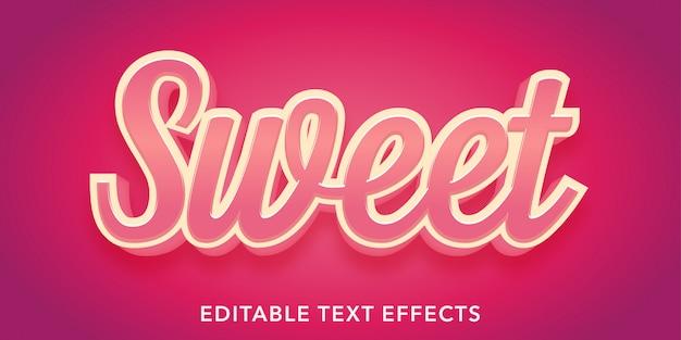Süße bearbeitbare textstil-effekte