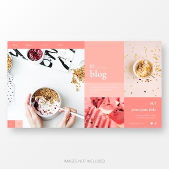 Süße blog landing page vorlage