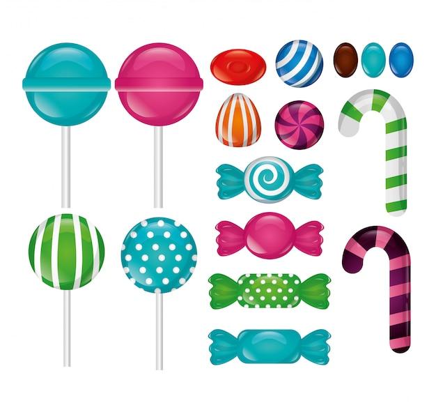 Süße bonbons packen
