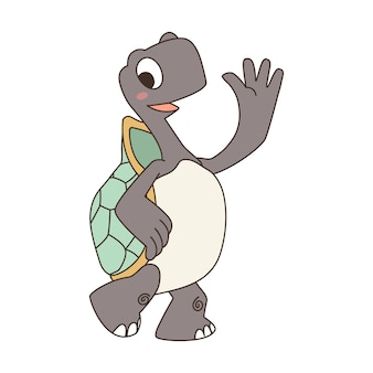 Süße cartoon-schildkröte.