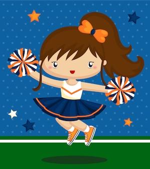 Süße cheerleader