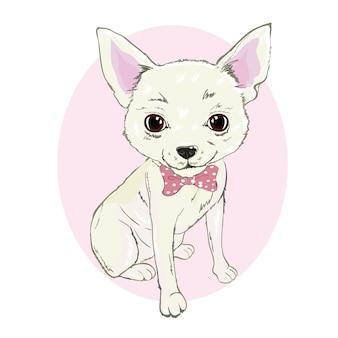 Süße chihuahua illustration