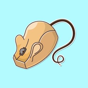 Süße computermaus, die einer maus ähnelt