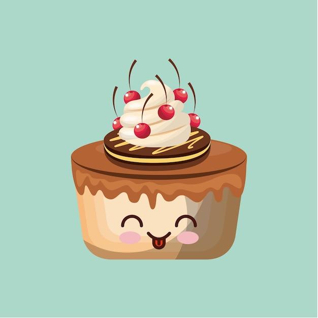 Süße cupcake icon design
