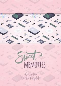Süße erinnerungen, die design verzieren