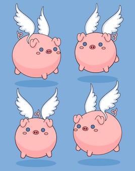 Süße fliegende schweine