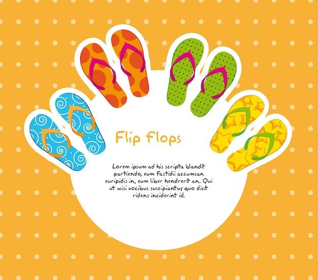 Süße flip flops mit platz für kopie