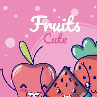 Süße früchte cartoons