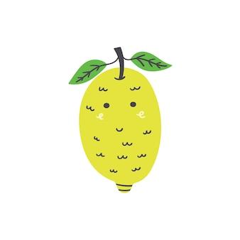 Süße gelbe zitrone