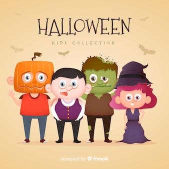 Süße halloween-kostüme für kinder