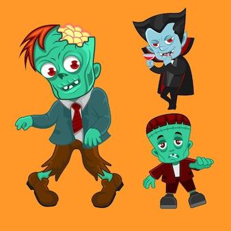 Süße hallowen kreaturen