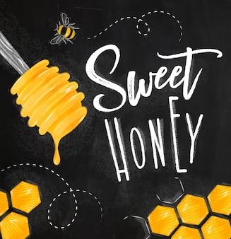 Süße honigkreide des plakats