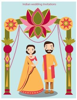 Süße indische hochzeit