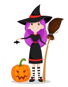 Süße junge hexe