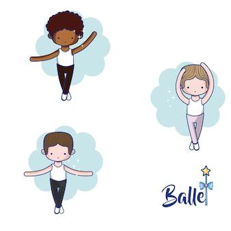Süße jungen balletttänzer