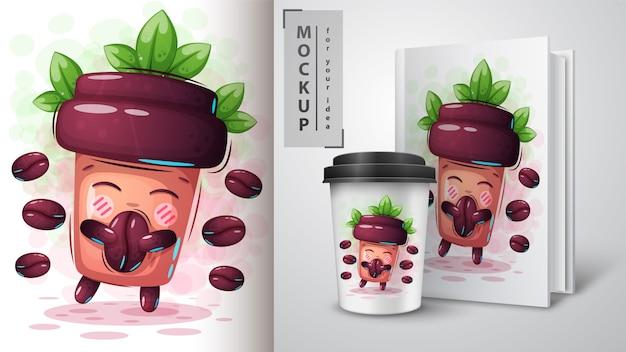Süße kaffeetasse