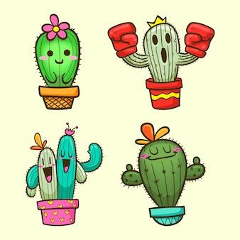 Süße kaktus-karikatur