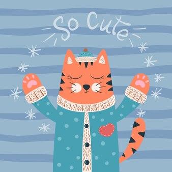 Süße katze.