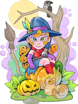 Süße kleine hexe