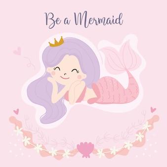 Süße kleine meerjungfrau