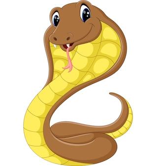 Süße kobra schlange cartoon