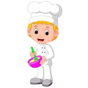 Süße köche machen brot