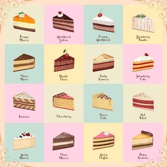 Süße kuchenpackung
