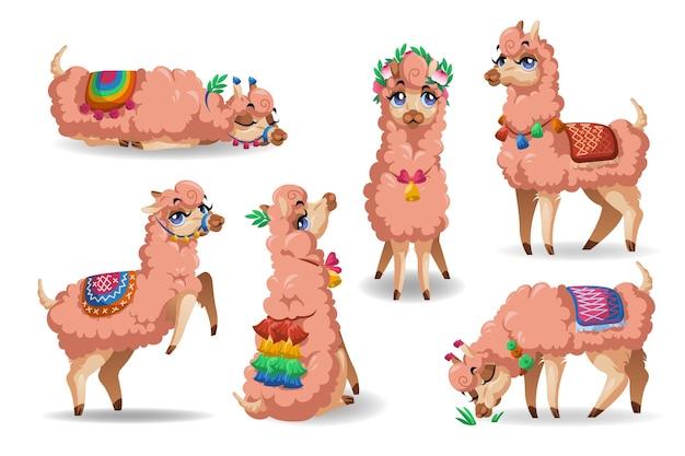 Süße lama-charaktere