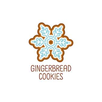 Süße lebkuchen kekse für weihnachten.
