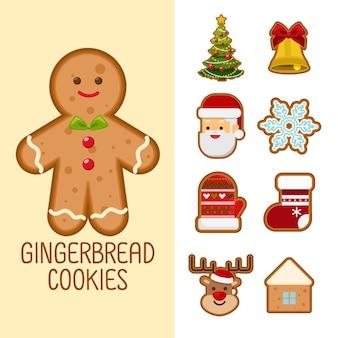 Süße lebkuchen kekse für weihnachten