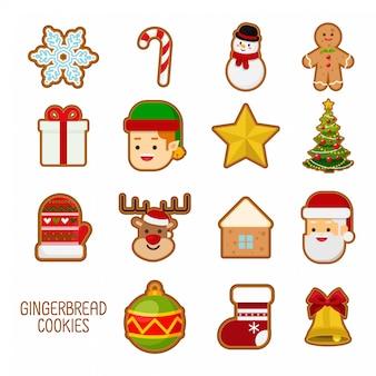 Süße lebkuchenplätzchen für weihnachten.