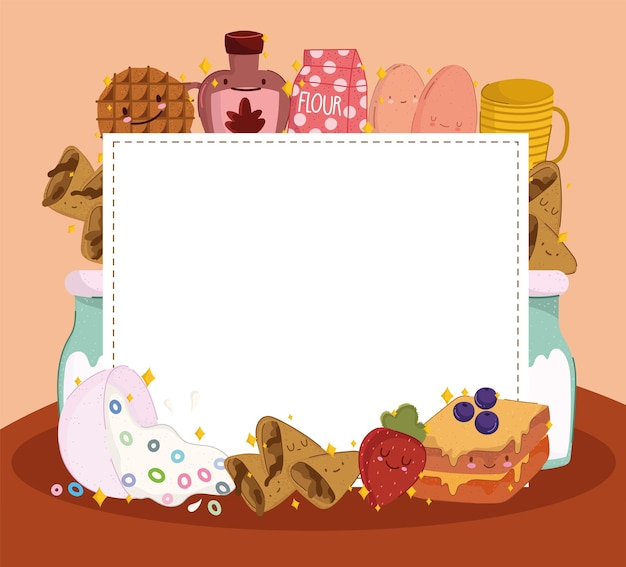 Süße leere frühstückskarte